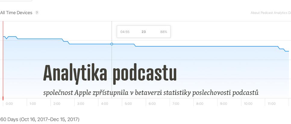 Apple zprovoznil betaverzi statistik pro vydavatele podcastů
