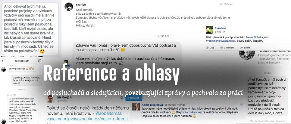 Výběr některých reakcí na podcast